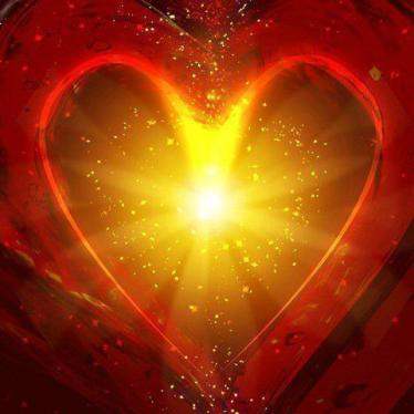 Coeur rouge lumière