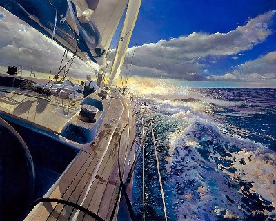 Voilier en mer_John DAntonio