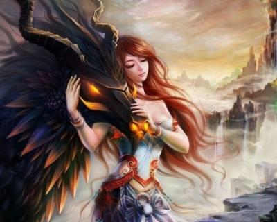 Dragon et jeune fille