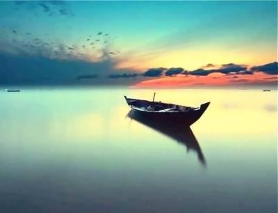 Bateau calme de la méditation
