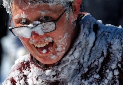 Face neige rires