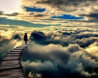 Pont nuages infini