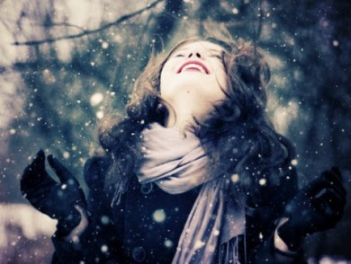 Neige fille amour