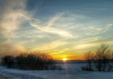 Soleil couchant ange nuage Nancy Latulippe-Leblanc