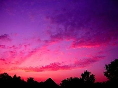 Coeur ciel nuage rose
