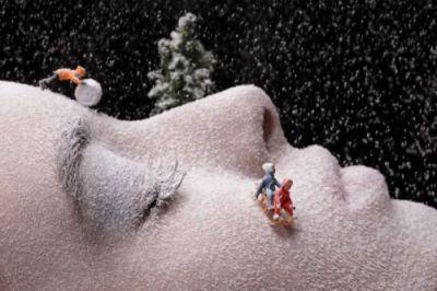 Visage neige enfants