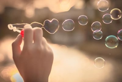 Bonheur bulles coeur