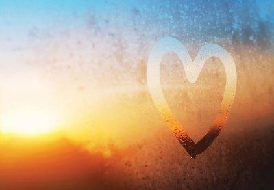 Coeur humidité fenêtre