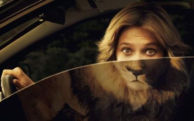 femme-visage-lion