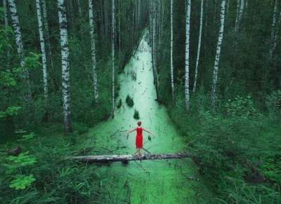 foret-robe-rouge
